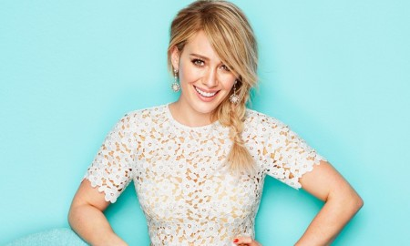 Hilary Duff poses in Redbook Magazine's February issue