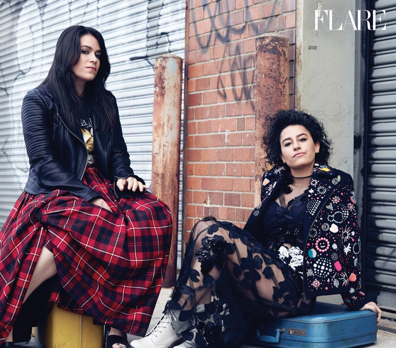 Ilana and Abbi open up about being curvy girls in the magazine