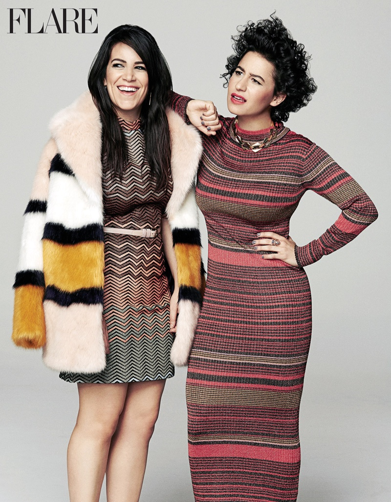 'Broad City' Stars Ilana Glazer & Abbi Jacobson Pose for FLARE Magazine