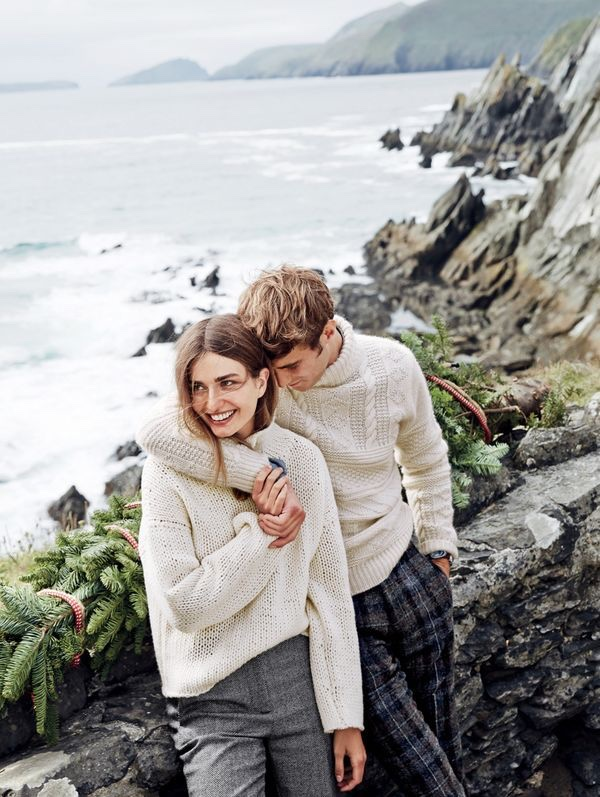 Andreea Diaconu Models Cozy Winter Looks From J Crew