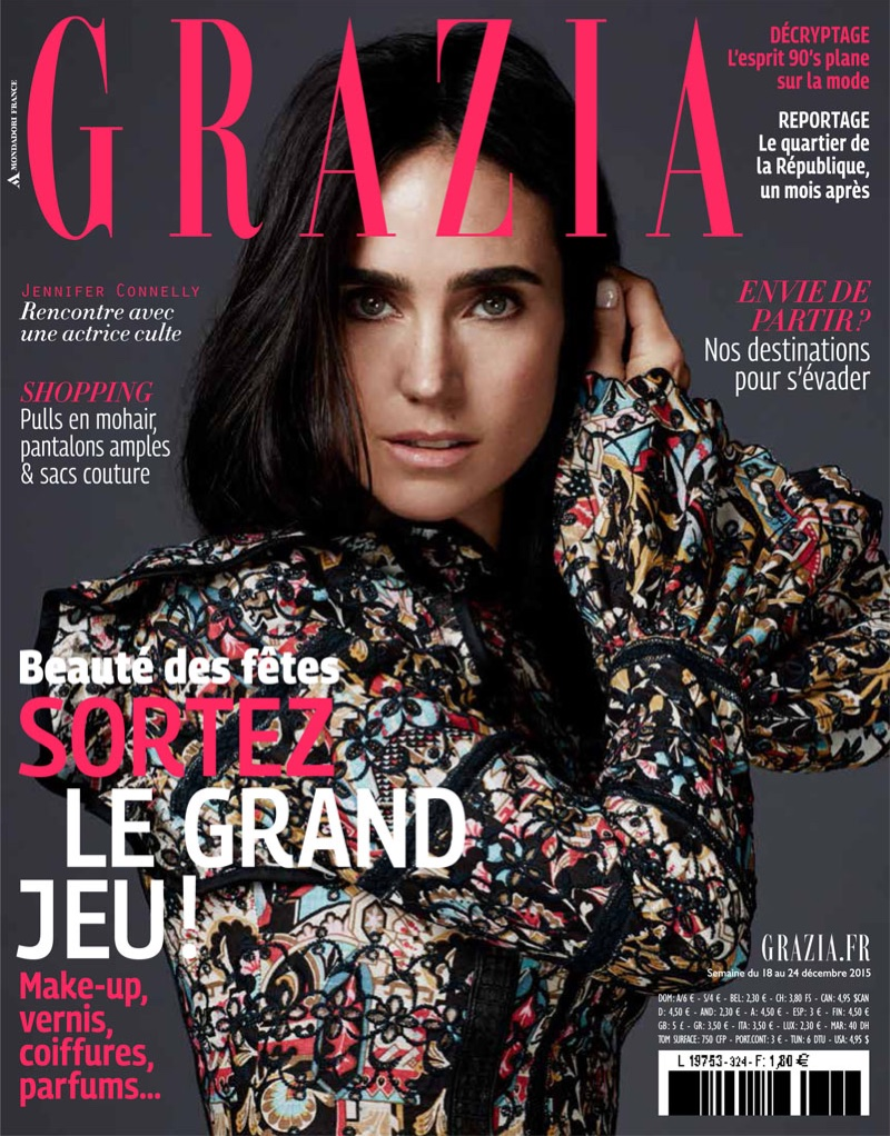 Jennifer Connelly Poses In Louis Vuitton For Grazia December 2015 By David Roemer