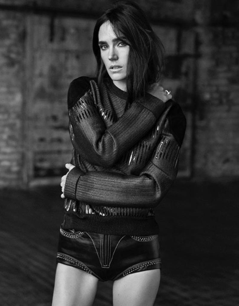 Jennifer Connelly channels her inner model in a moody black and white shot