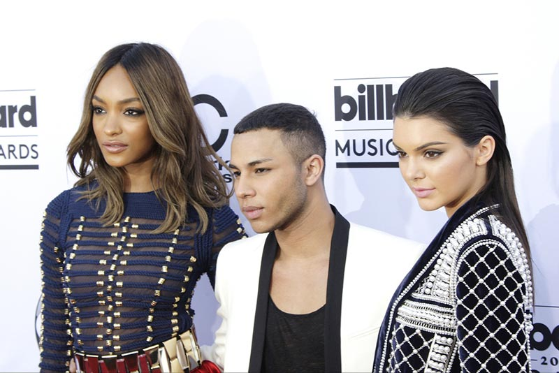 Jourdan Dunn, Kendall Jenner and Olivier Rousteing at the 2015 Billboard Music Awards. Photo: Joe Seer / Shutterstock.com