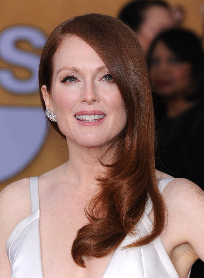 Julianne Moore is a another celebrity with red hair. At a red carpet event, she showed off a darker shade of red. Photo: DFree / Shutterstock.com