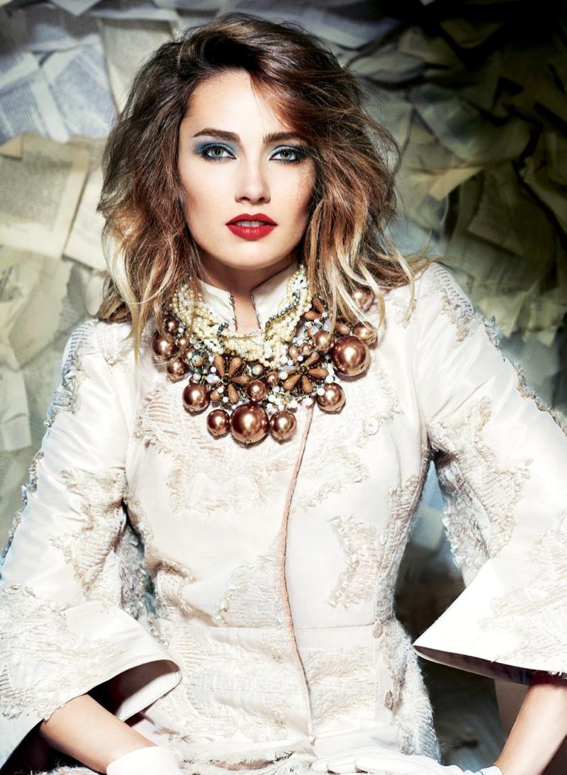 Karmen Pedaru Wears the Season's Most Festive Fashion in Sunday Times Style