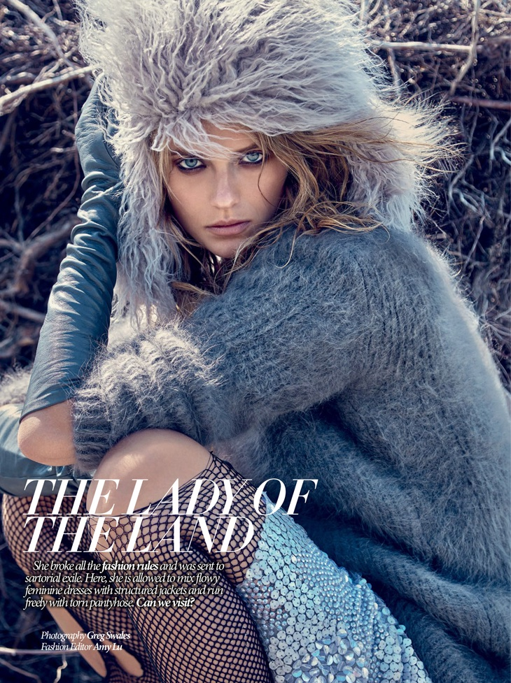 Kate Bock Embraces Romantic Winter Looks In Dress To Kill Magazine Winter 2015