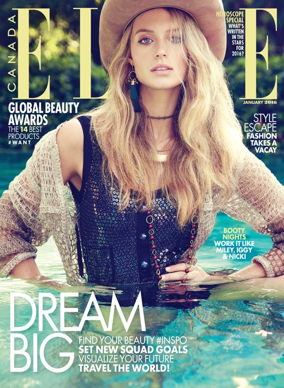 Kate Bock on ELLE Canada January 2016 cover