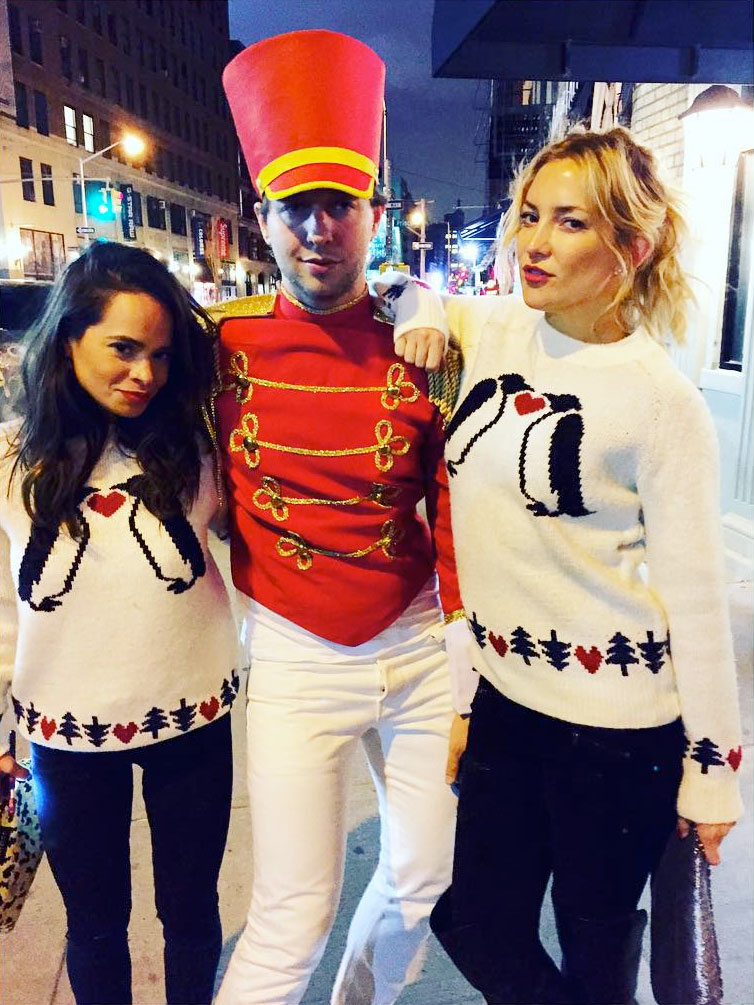 Kate Hudson spotted out and about in London wearing an ASOS Penguin Christmas sweater. Photo: Instagram