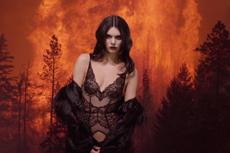 Kendall Jenner is On Fire in Lingerie-Clad LOVE Video