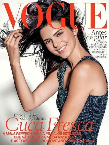 Kendall Jenner is All Smiles on Vogue Brazil Cover