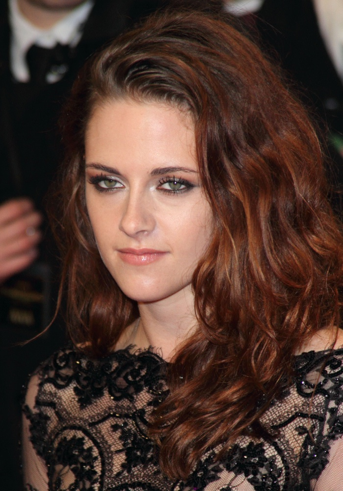 Kristen Stewart is another actress who has dyed her hair many colors. Here she showcases wavy auburn strands at an event. Photo: landmarkmedia / Shutterstock.com