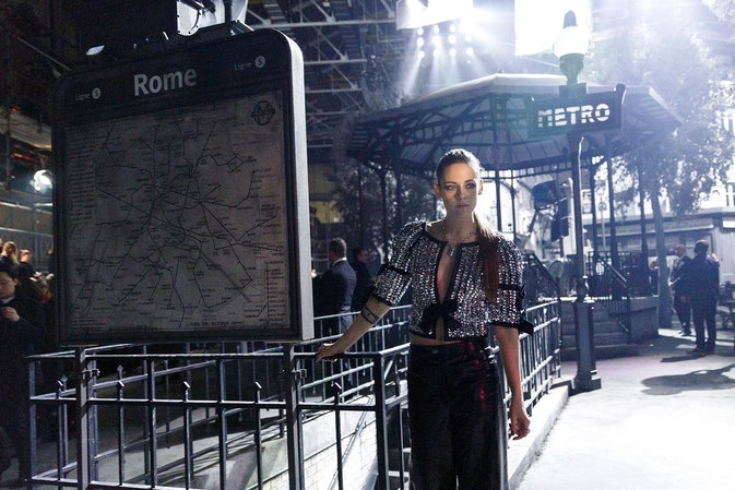 Kristen Stewart at Chanel Metiers d'Art show in Rome
