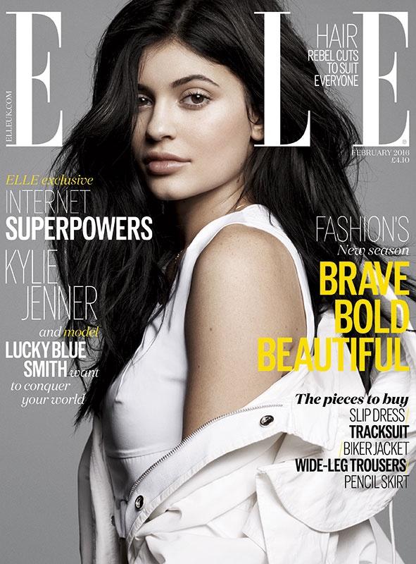 Kylie Jenner on ELLE UK February 2016 cover
