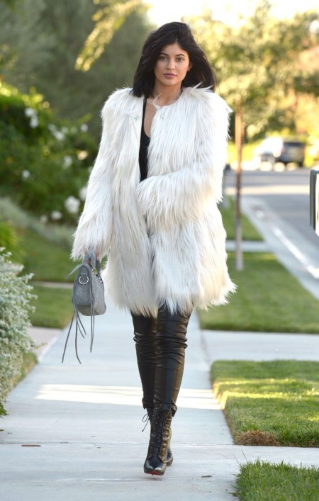 Kylie Jenner Shows How to Rock the Faux Fur Look
