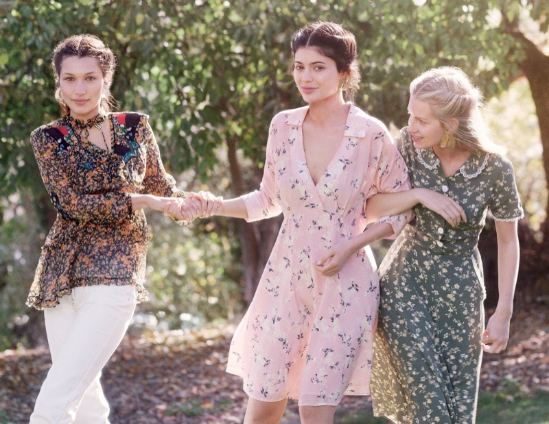 Bella Hadid, Kylie Jenner and Lottie Moss star in Vogue's January issue