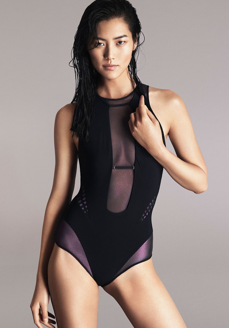 Liu Wen Poses In Lingerie Inspired Looks For Cosmopolitan