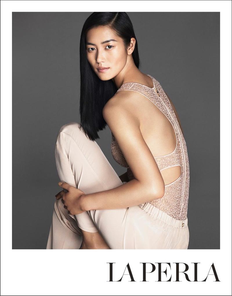 Liu Wen stars in La Perla's spring-summer 2016 campaign