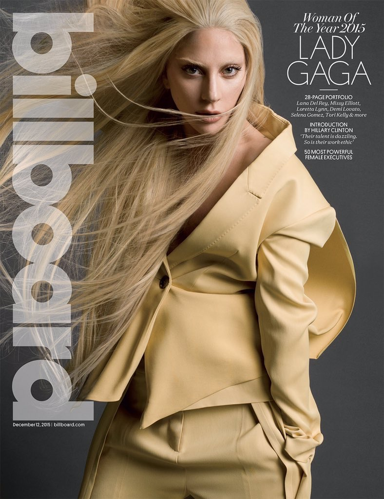 Lady Gaga on Billboard Magazine December 2015 cover