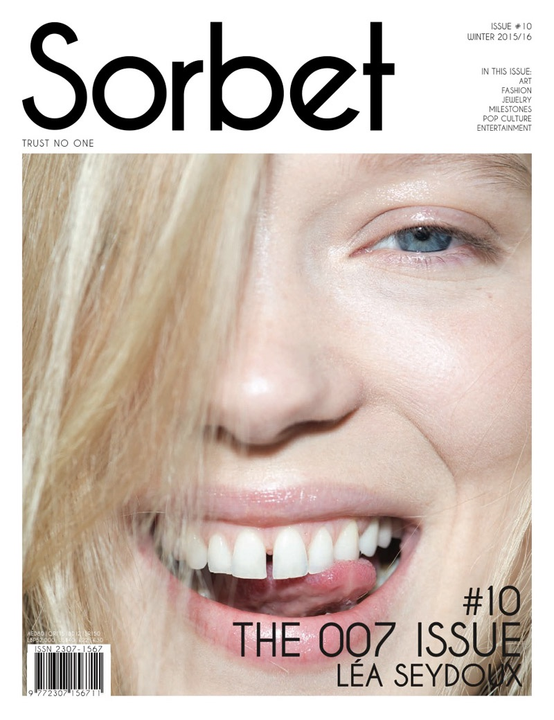 Lea Seydoux on Sorbet Magazine winter 2015 cover