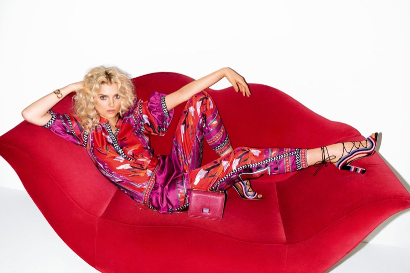 Lily Donaldson Models Resort's Most Fashionable Prints In Vogue Japan  January 2016