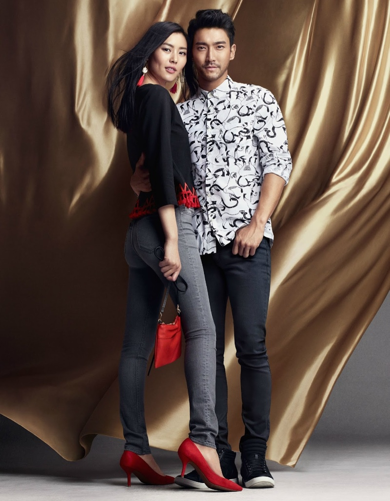 Liu Wen and Choi Siwon in H&M's Chinese New Year campaign