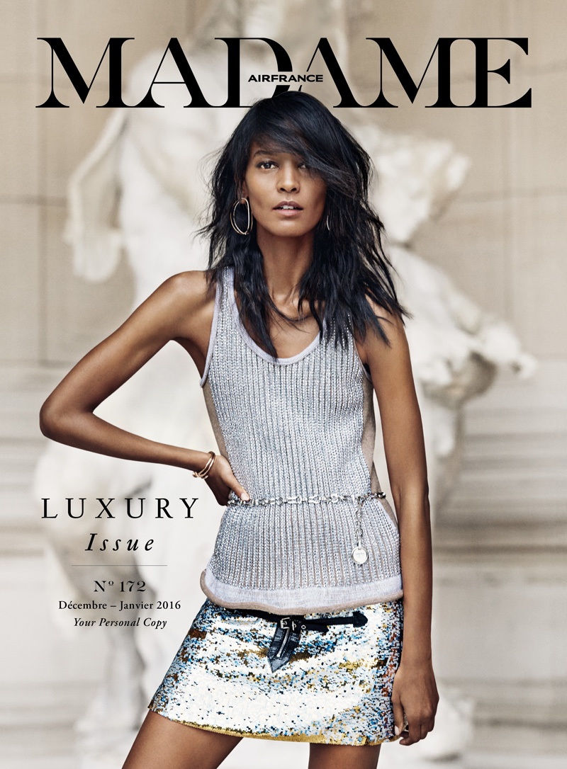 Liya Kebede Wears Luxe Looks for Air France Madame