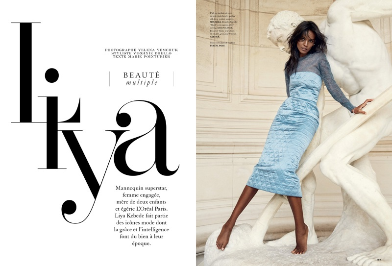 Liya Kebede stars in Air France Madame magazine