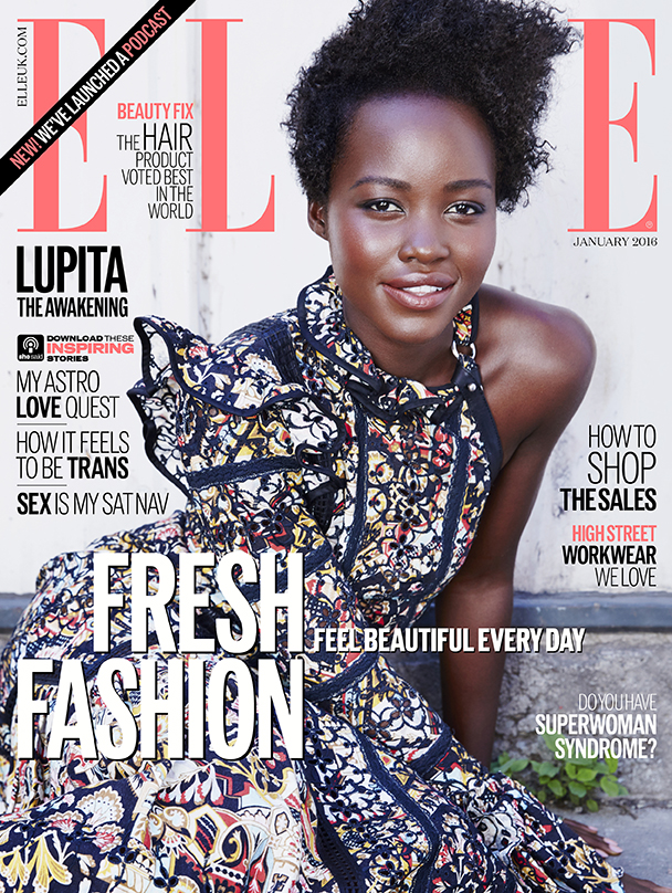 Lupita Nyong'o Covers ELLE UK, Talks 'Star Wars' Role