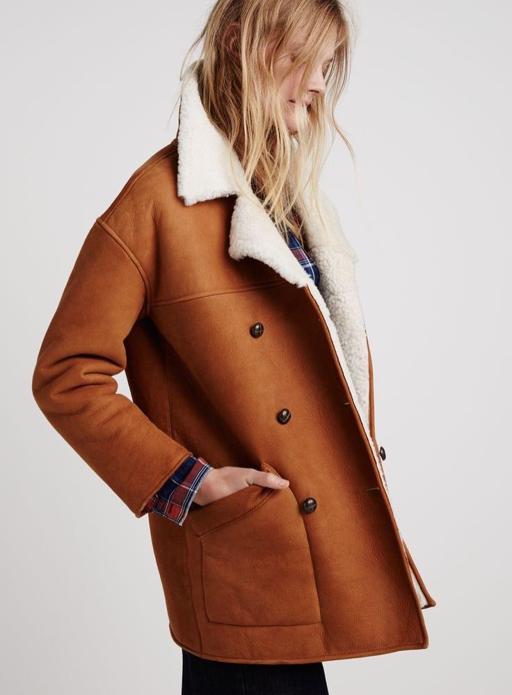 Madewell shearling car coat