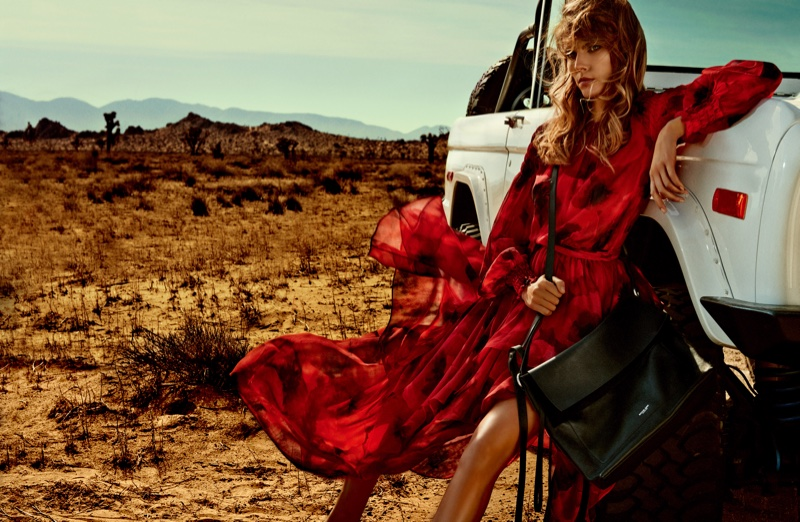 Maryna Linchuk Masters Desert Style in Vogue Japan Editorial