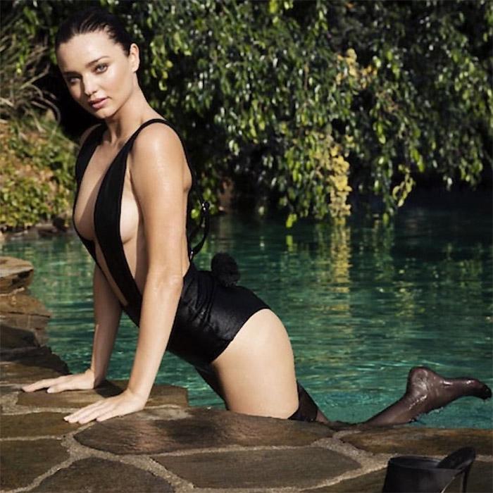 Miranda Kerr Wears a Barely There Bodysuit in Sultry LOVE video