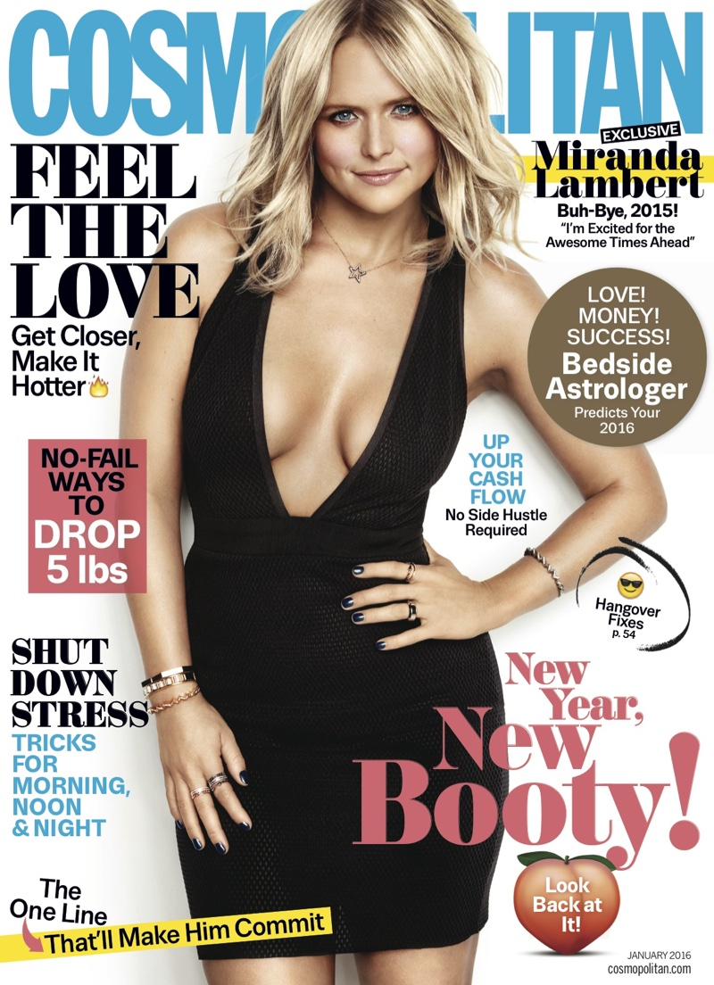 Miranda Lambert Rocks The LBD In Cosmopolitan January 2016 Cover Story