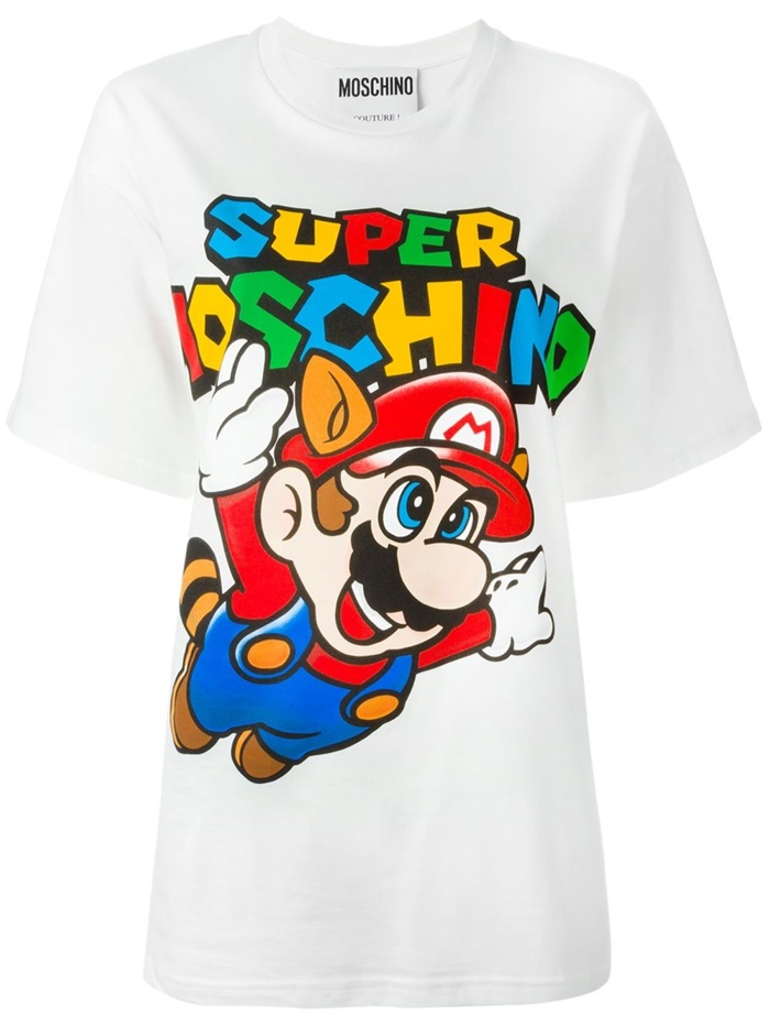 Super Moschino White Mario Bros Shirt