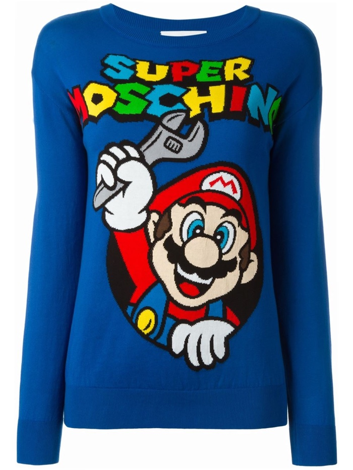 Super Moschino Mario Sweater in Blue