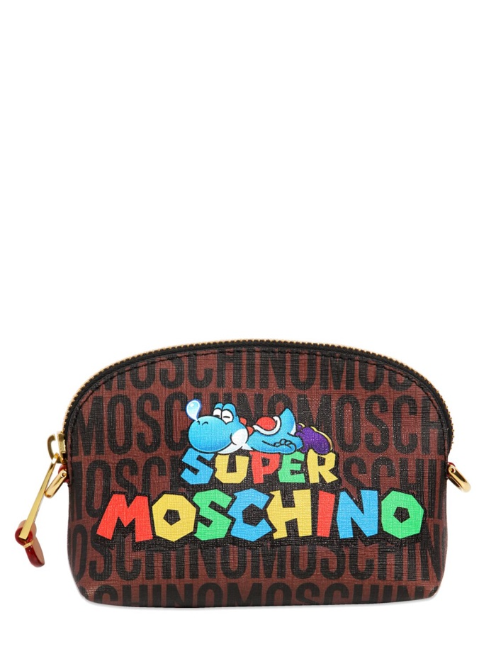 Super Moschino Yoshi Faux Leather Bag