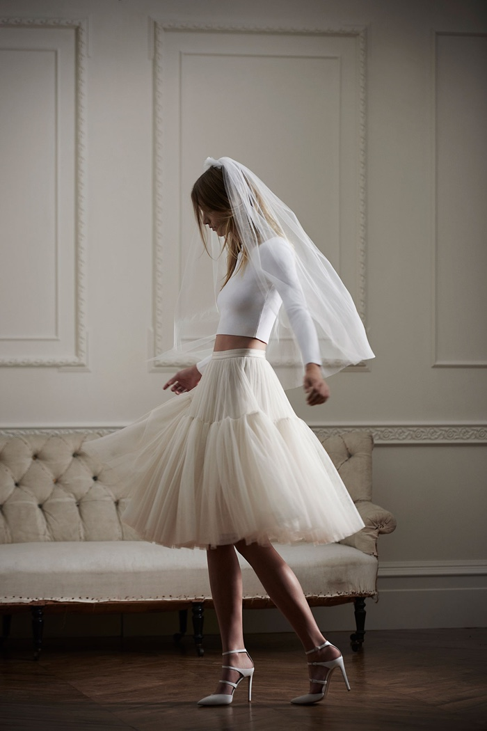 Needle thread bridal wedding dresses debut collection for Tulle skirt under wedding dress