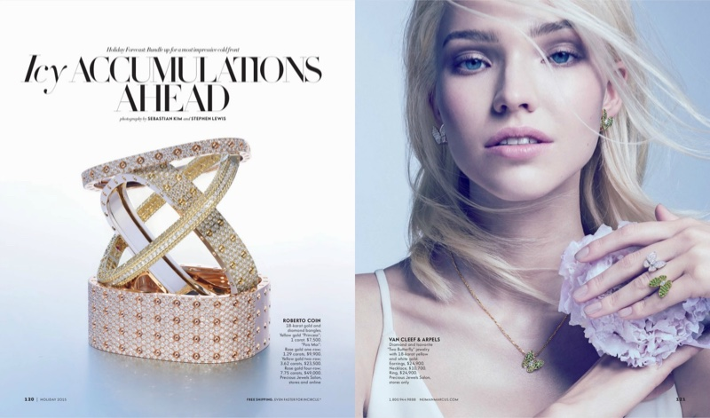 The Book - Sasha Luss For Neiman Marcus Showcases Some Serious Holiday Bling