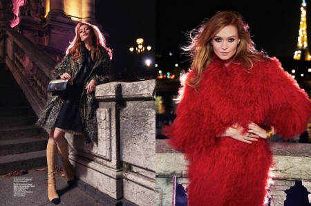 Paris, je t'aime: Asa Tallgard Captures Chic Nighttime Looks for ELLE Norway