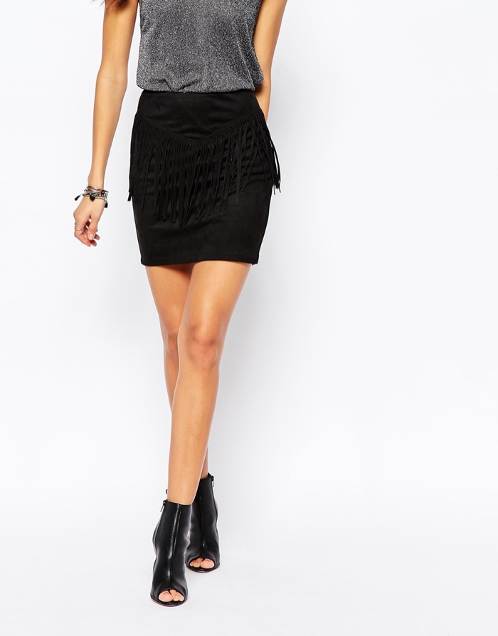 Suede Fringe Skirts for Under $200