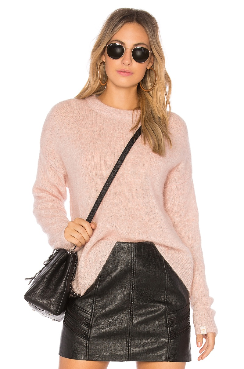 Obey Veronica Crew Knit Sweater $89