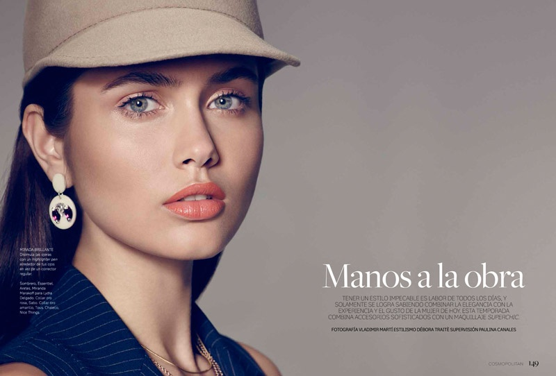 Vika stars in Cosmopolitan Mexico's December issue photographed by Vladimir Marti