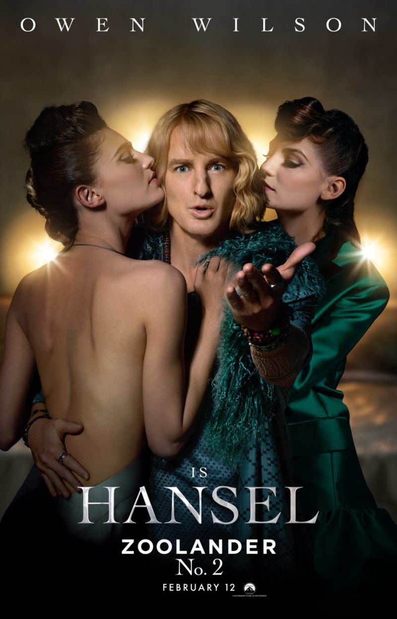 Owen Wilson as Hansel on Zoolander 2 poster