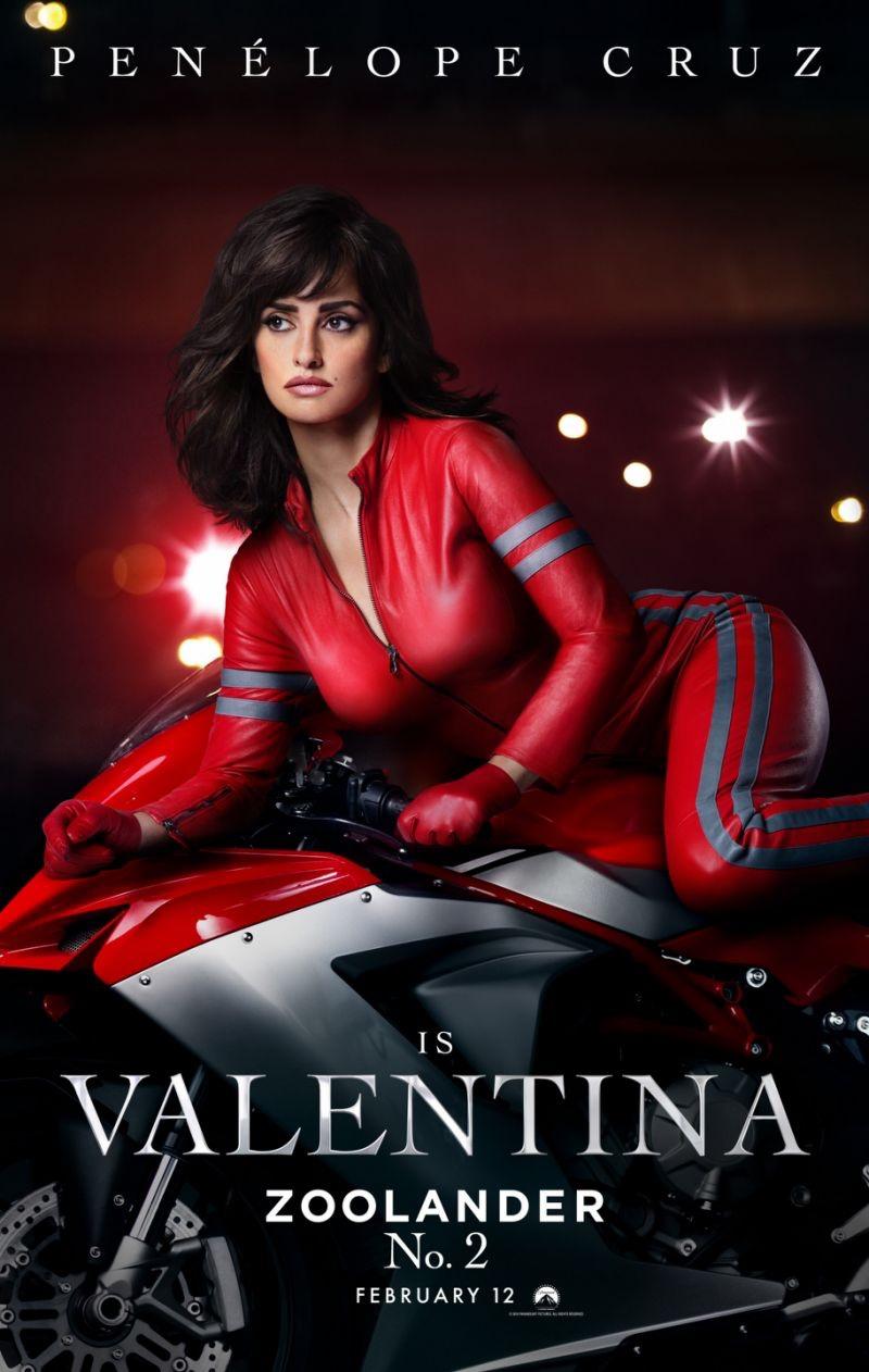 Penelope Cruz Rocks a Red-Hot Catsuit on 'Zoolander 2' Poster