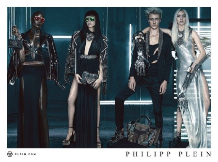 Philipp Plein Goes Punk for Spring Ads Featuring Hailey Baldwin