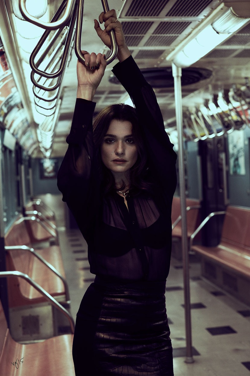Rachel Weisz Brings Chic Style to the Subway for Violet Grey