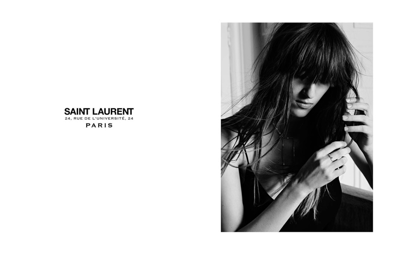 Helena Severin stars in Saint Laurent's Permanent campaign for 2016