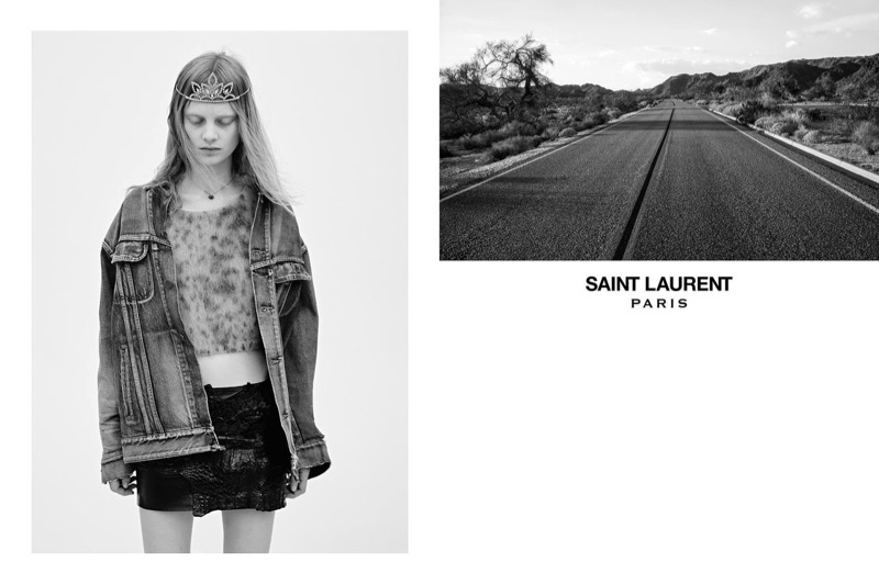 Saint Laurent Serves Glam Grunge with Spring Ads