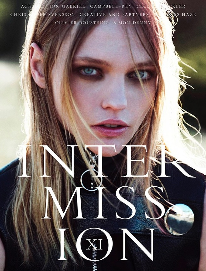 Sasha Pivovarova Heads Outdoors For Intermission Editorial Fall-winter 2015