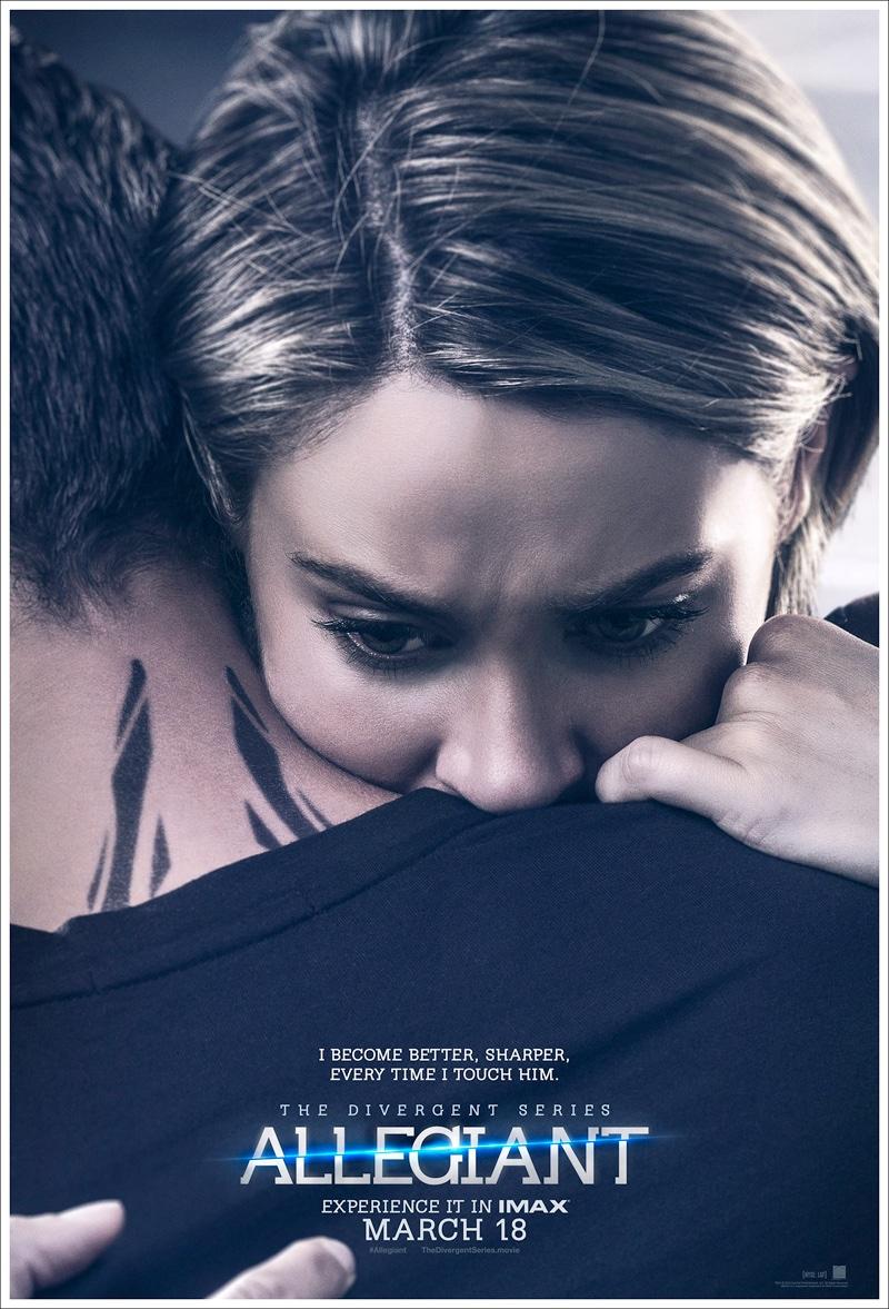 Shailene Woodley on Allegiant movie poster
