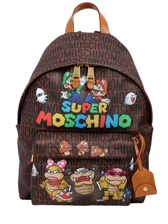 Super Moschino Faux Leather Backpack
